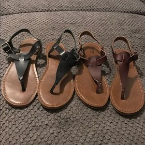 Two pairs sandals